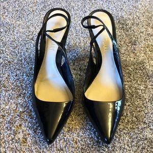 Colin Stuart Shoes - Colin Stuart 3in Black Leather Heels SZ 9 like new